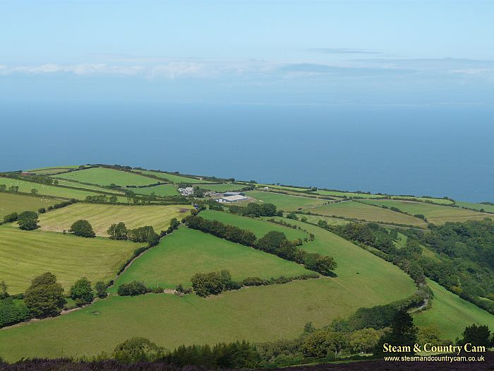 Looking across to the sea from the top of Exmoor, Devon.