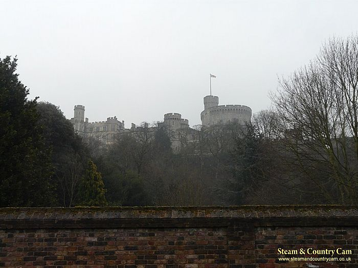 Windsor Castle in the gloom