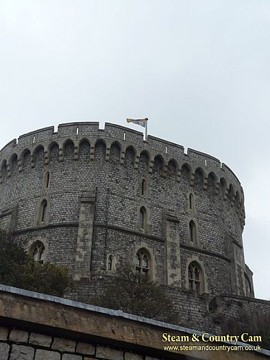 The Royal Standard flying at Windsor
