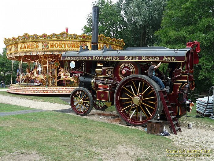 "Fowler Showmans Engine ""The Lion"" and Gallopers"