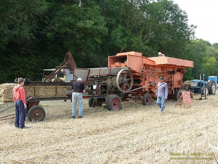 Threshing machine and baler